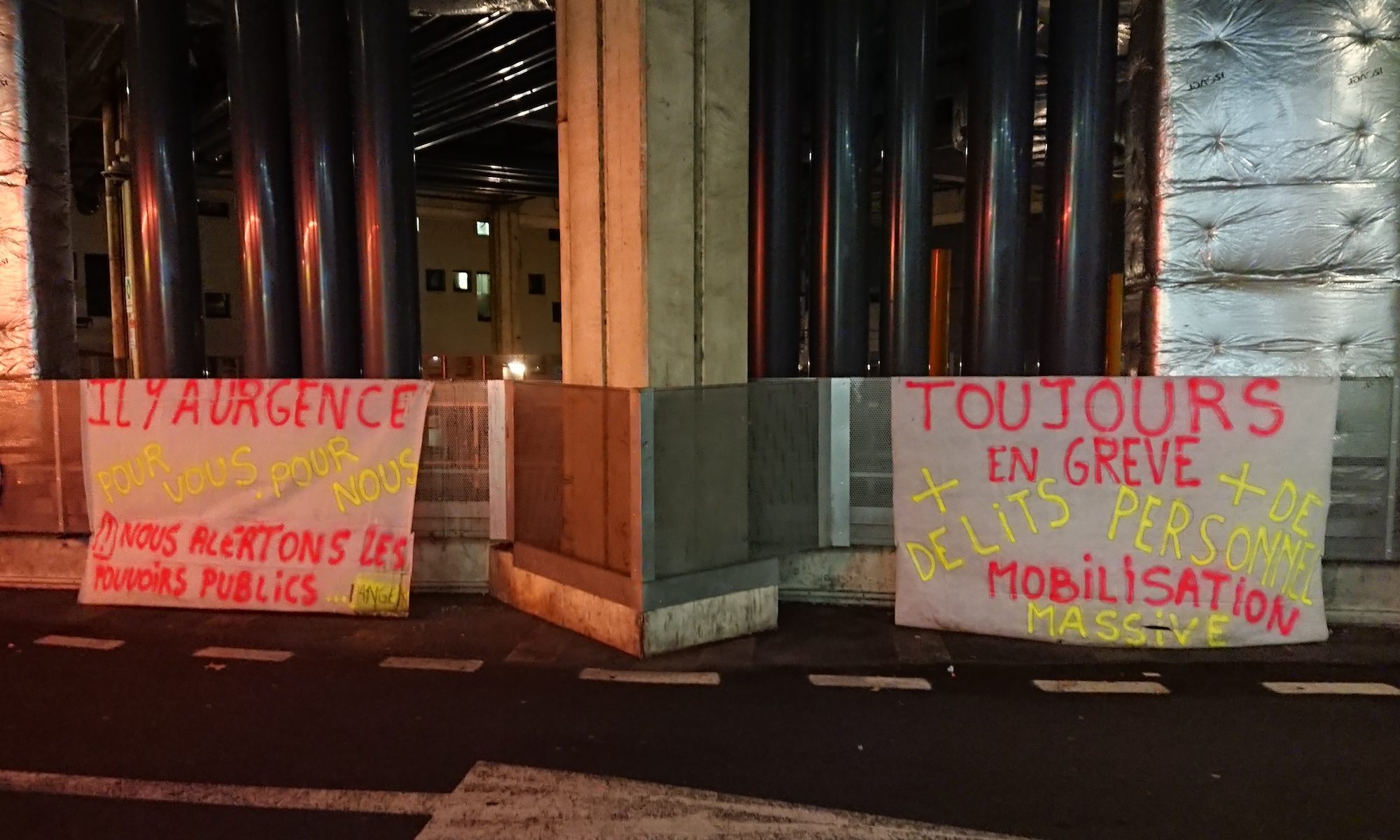 CHU de Nantes. Service des urgences en grève. Novembre 2019. Photo : CC-by-nc-sa équipe Michelle Meunier