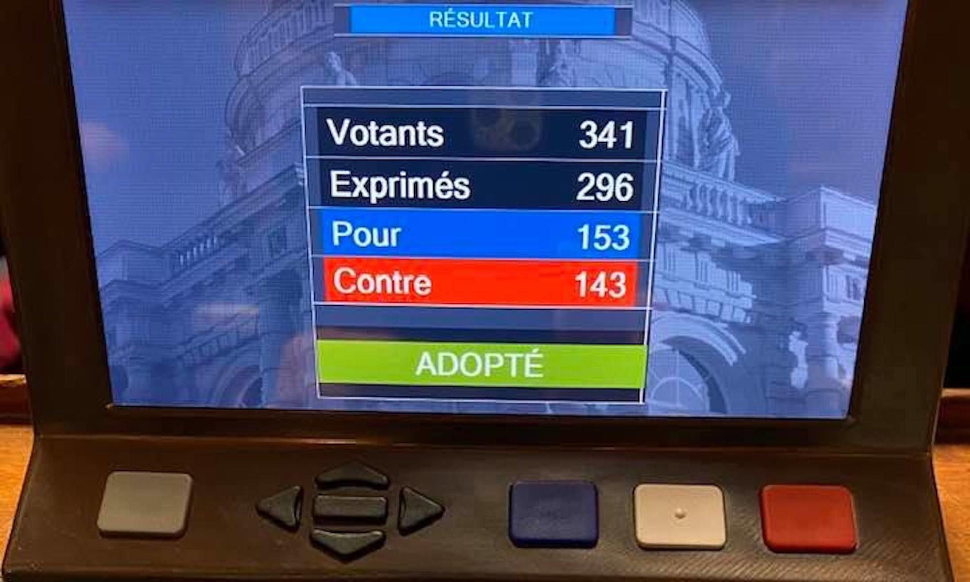 Vote scrutin solennel bioéthique 4 février 2020