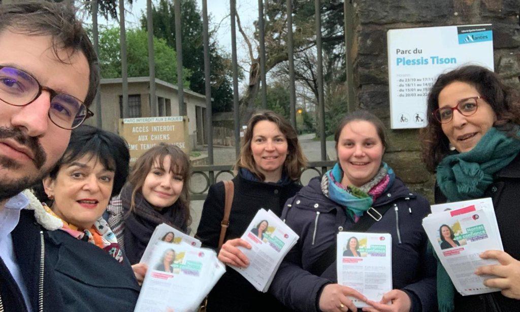 J'étais mercredi 11 mars avec les soutiens de Johanna Rolland pour faire connaitre le programme de la liste Nantes en confiance.
