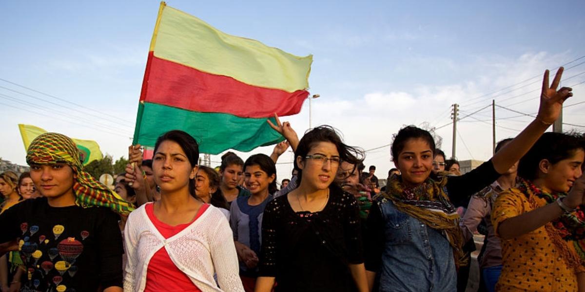 Manifestation à Kobané
