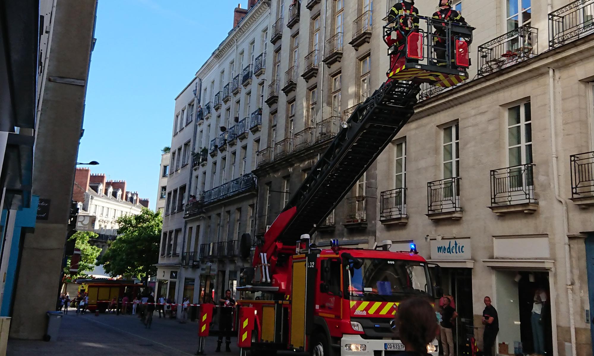 pompiers Nantes