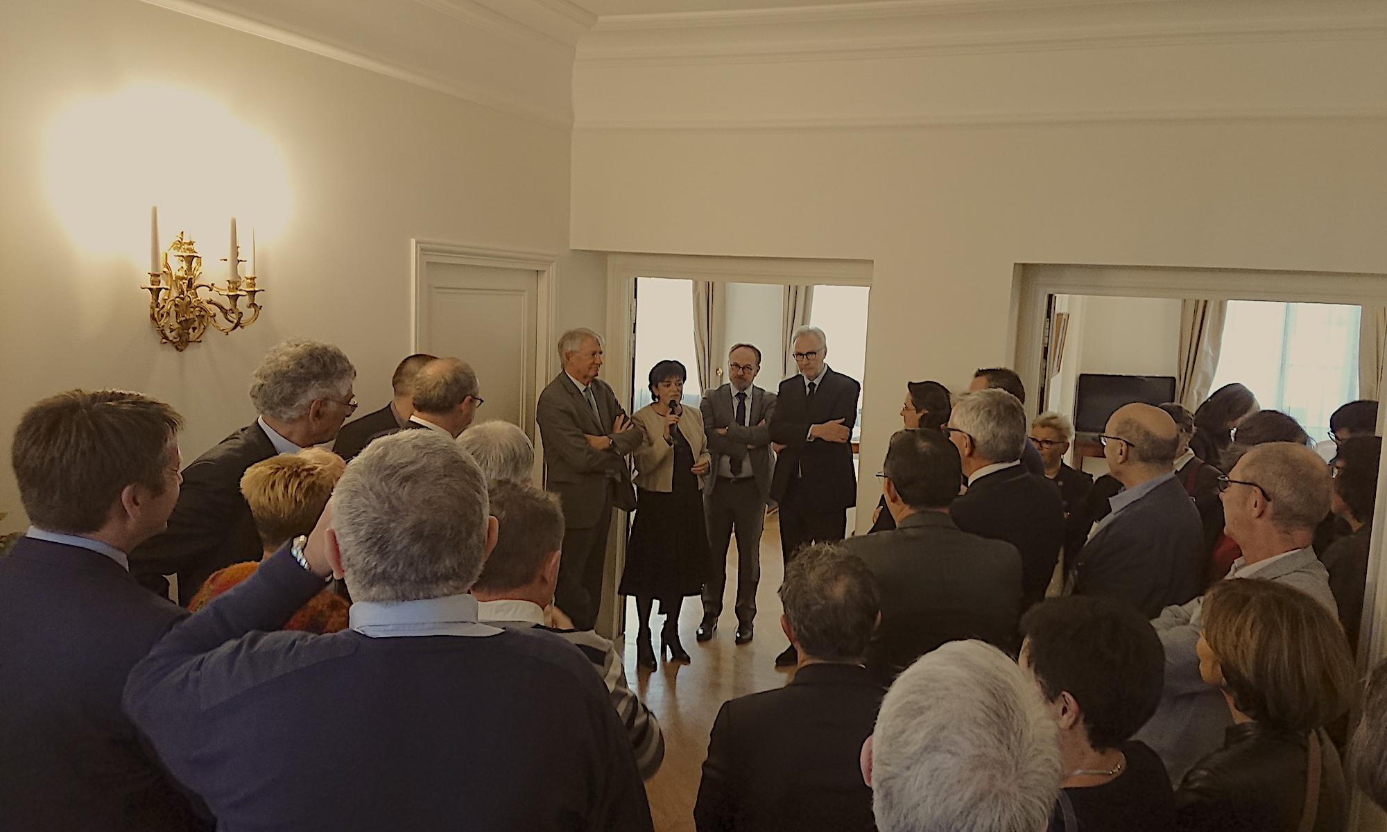 Déjeuner des maires de Loire-Atlantique au Sénat en 2018 à l'occasion du congrès des maires