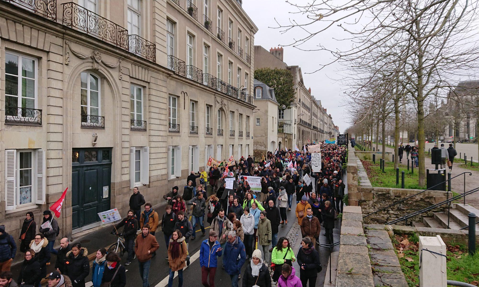 Manifestation contre la réforme des retraites, le mardi 10 décembre à Nantes