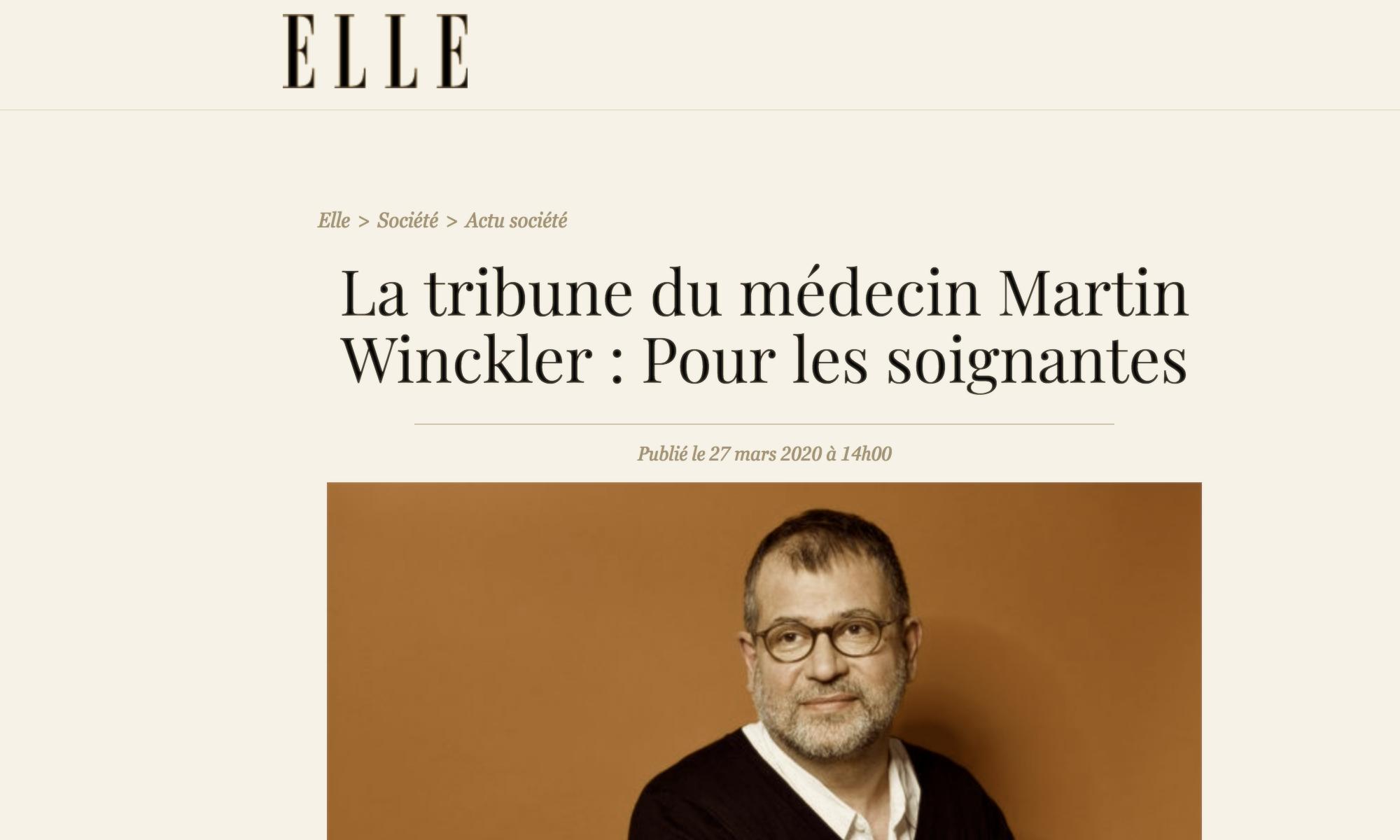Martin Winckler dans Elle