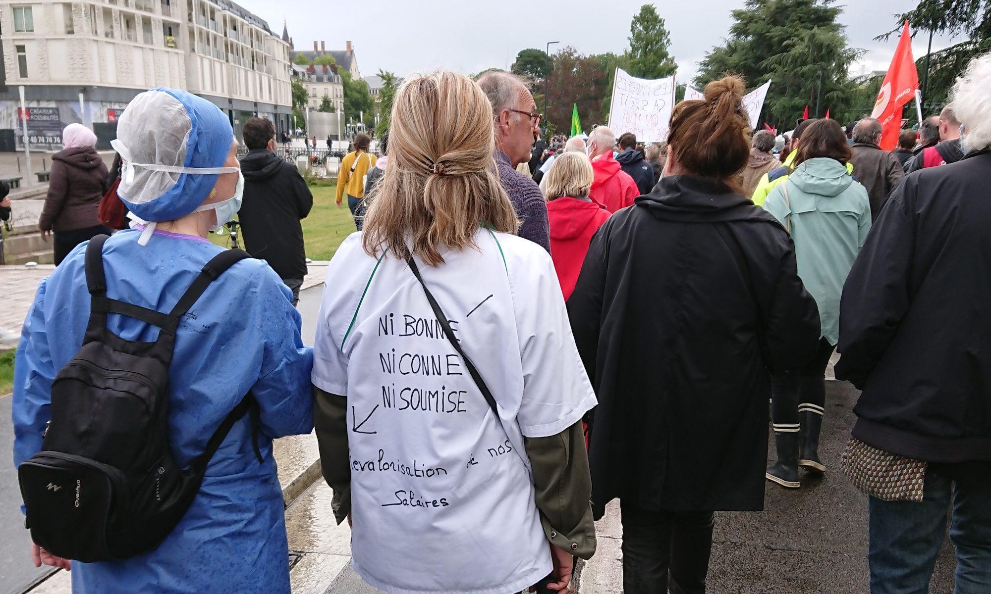 16 juin 2020, manifestation de soignant·e·s à Nantes