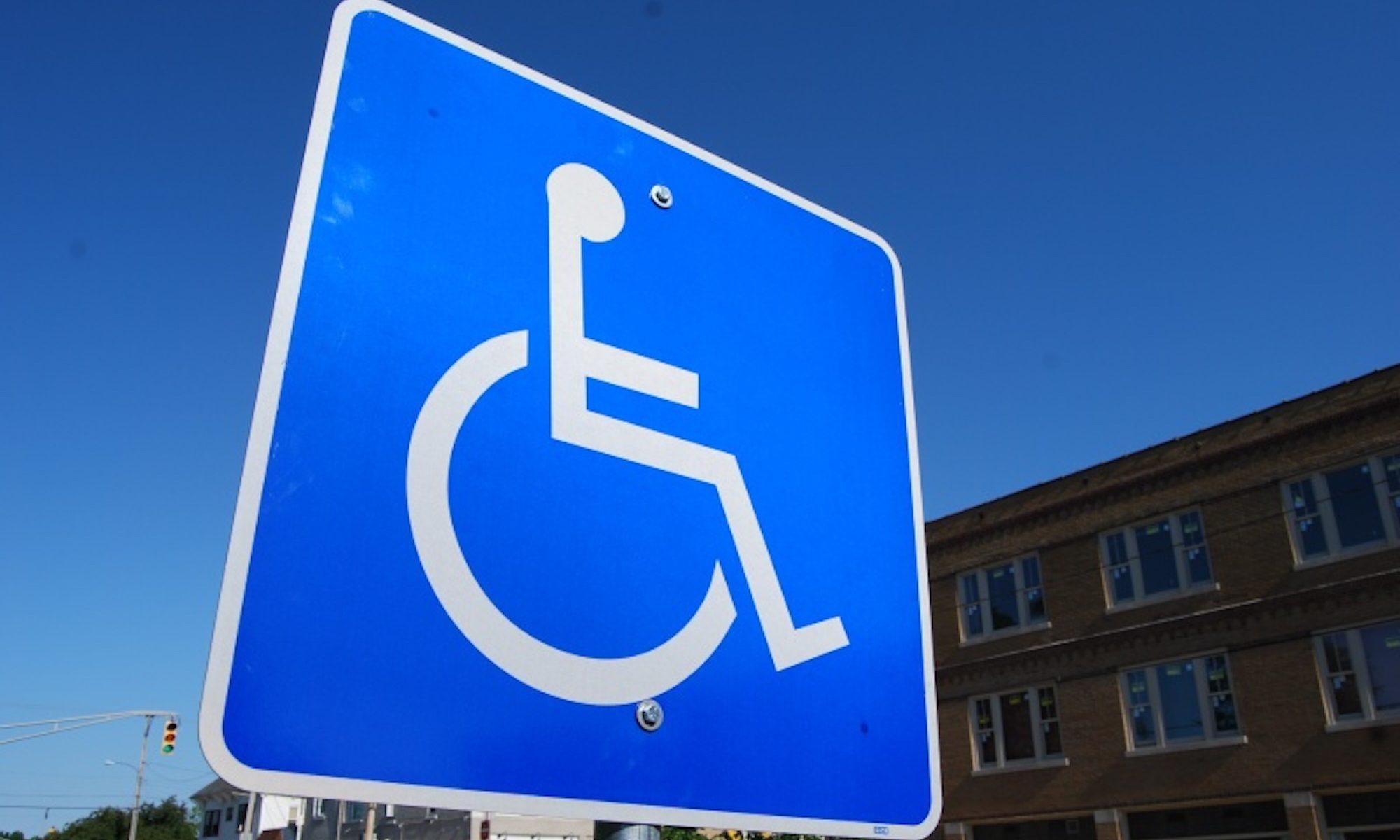 Handicap sign CC-by Steve Johnson https://flic.kr/p/82pNuh